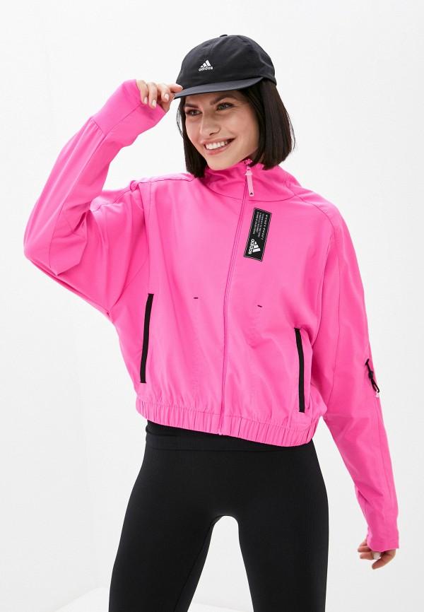 женская спортивные олимпийка adidas, розовая