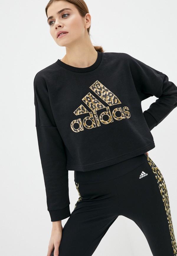 женский свитшот adidas, черный