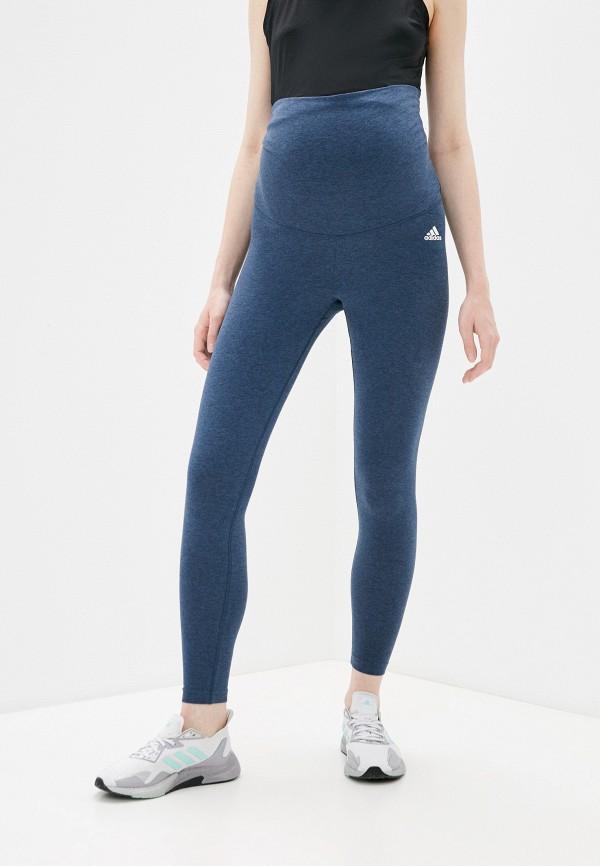 женские леггинсы adidas, синие