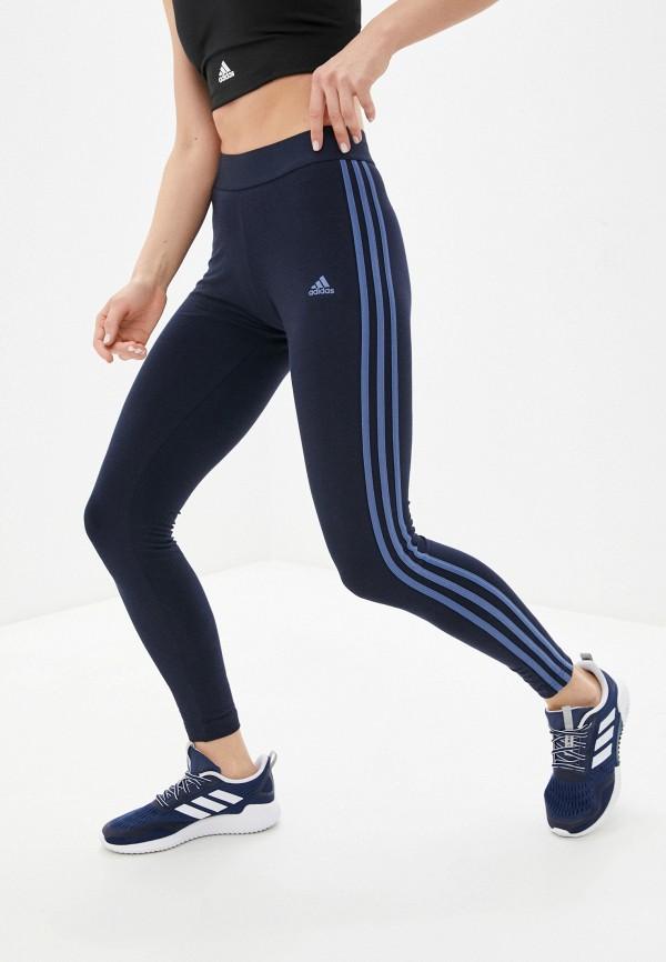женские спортивные леггинсы adidas, синие