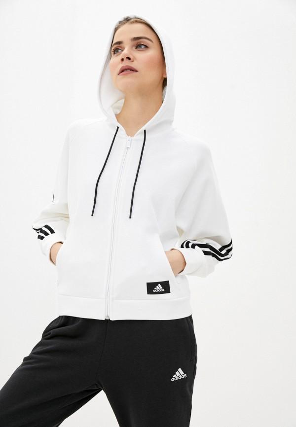 женская толстовка adidas, белая