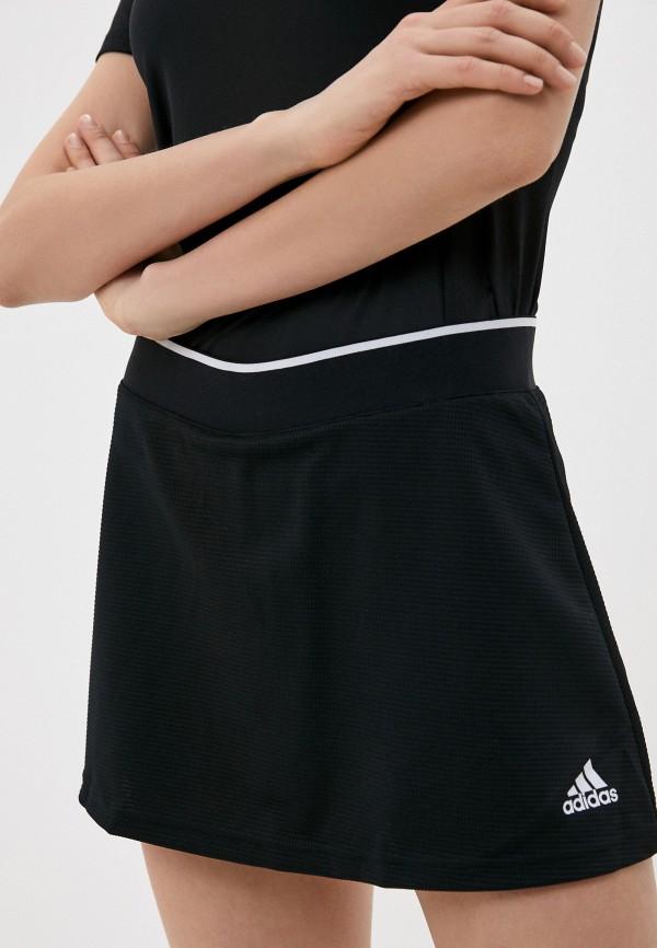 женская юбка-трапеции adidas, черная