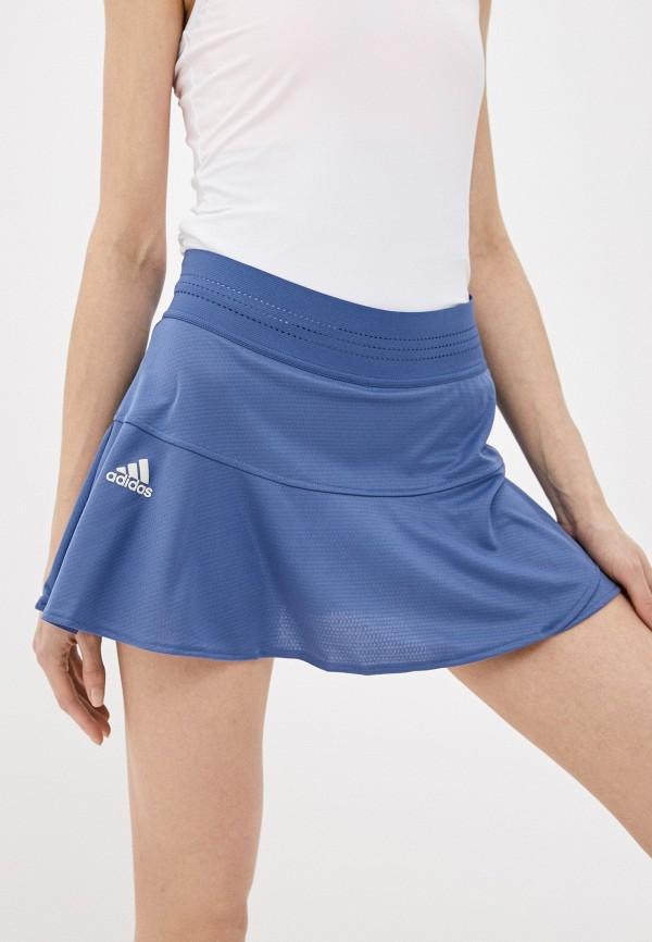 женская спортивные юбка adidas, синяя