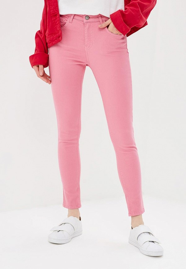 женские зауженные брюки adl, розовые