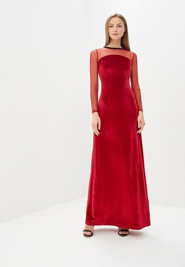 женское вечерние платье adl, красное