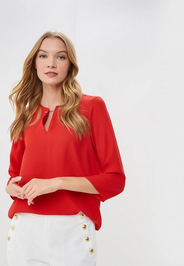 женская блузка adl, красная