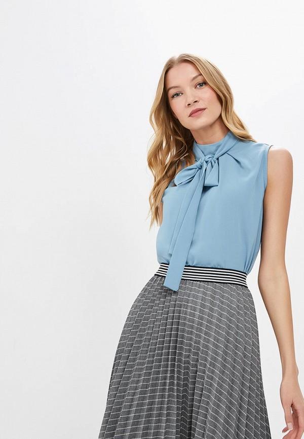 женская блузка adl, голубая