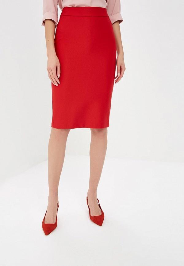 женская зауженные юбка adl, красная