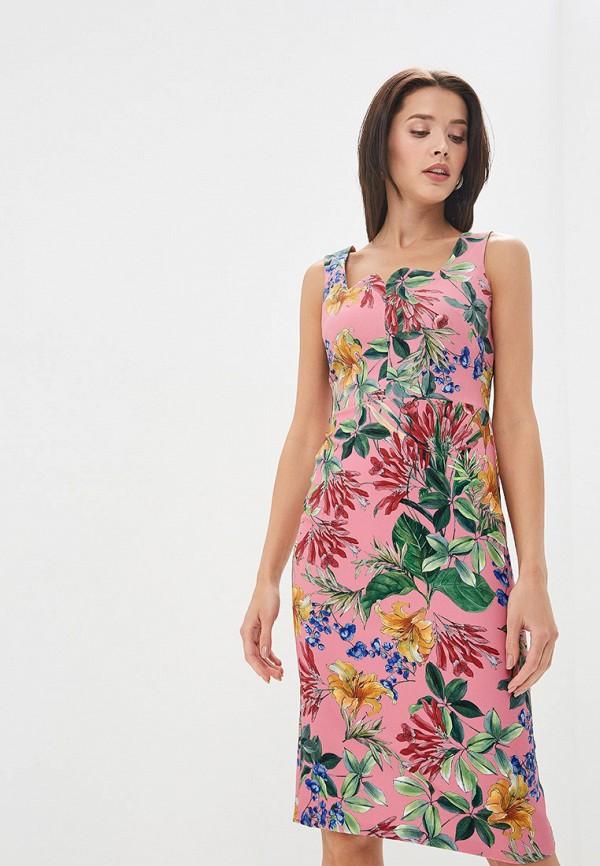 женское платье-футляр adl, розовое