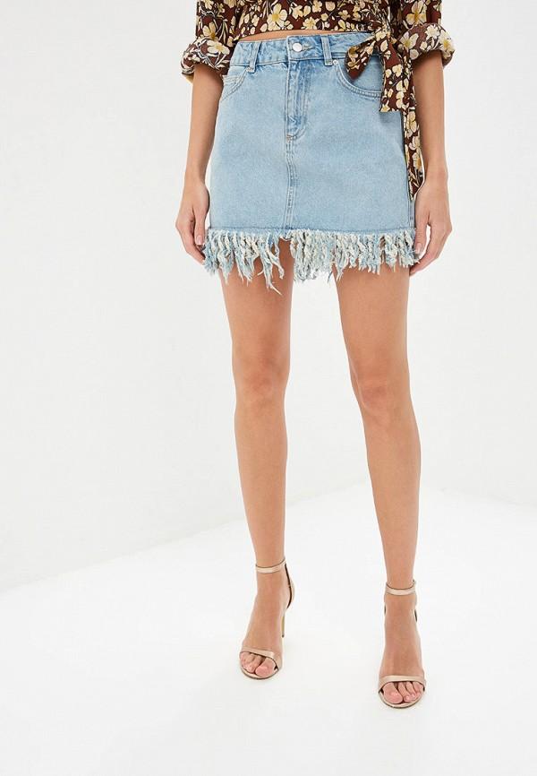 женская джинсовые юбка adl, голубая