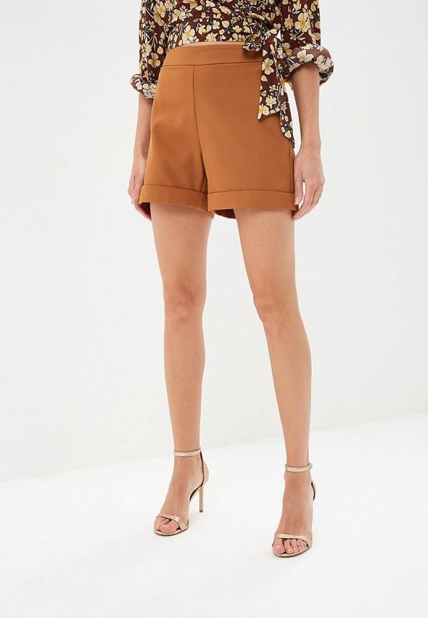 женские повседневные шорты adl, коричневые