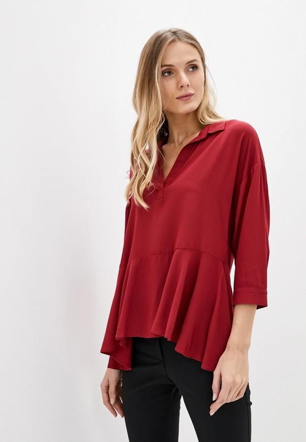 женская блузка с длинным рукавом adl, бордовая