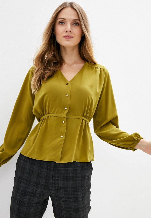 женская блузка с длинным рукавом adl, хаки