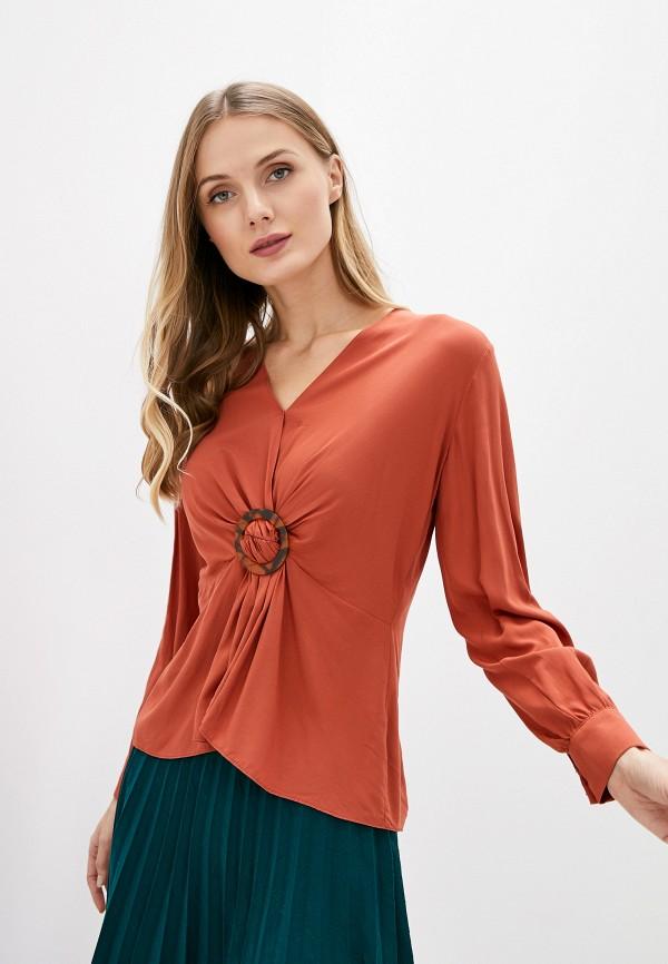 женская блузка с длинным рукавом adl, оранжевая