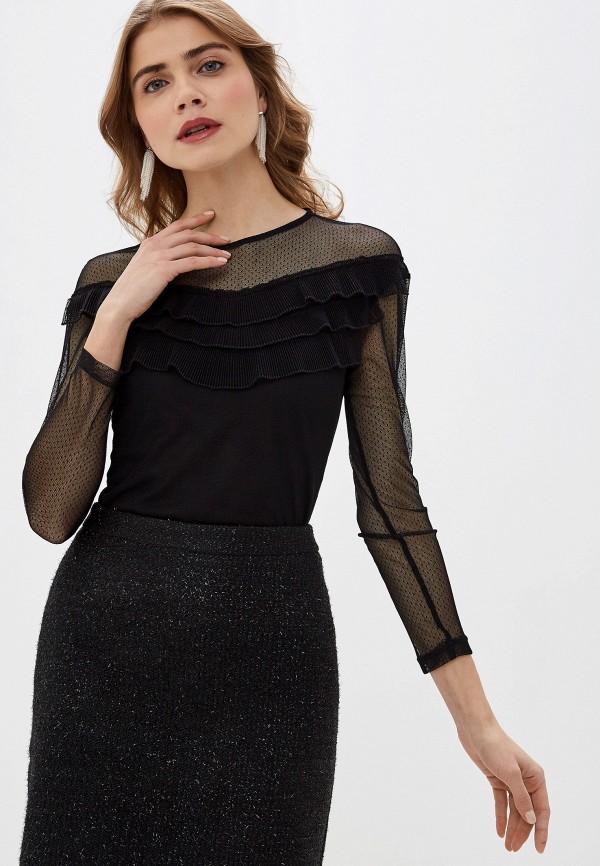 женская блузка с длинным рукавом adl, черная