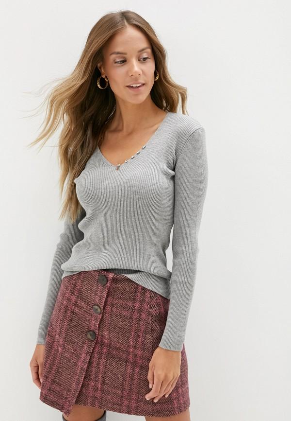 женский пуловер adl, серый