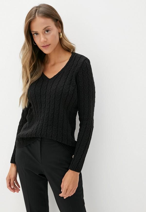 женский пуловер adl, черный