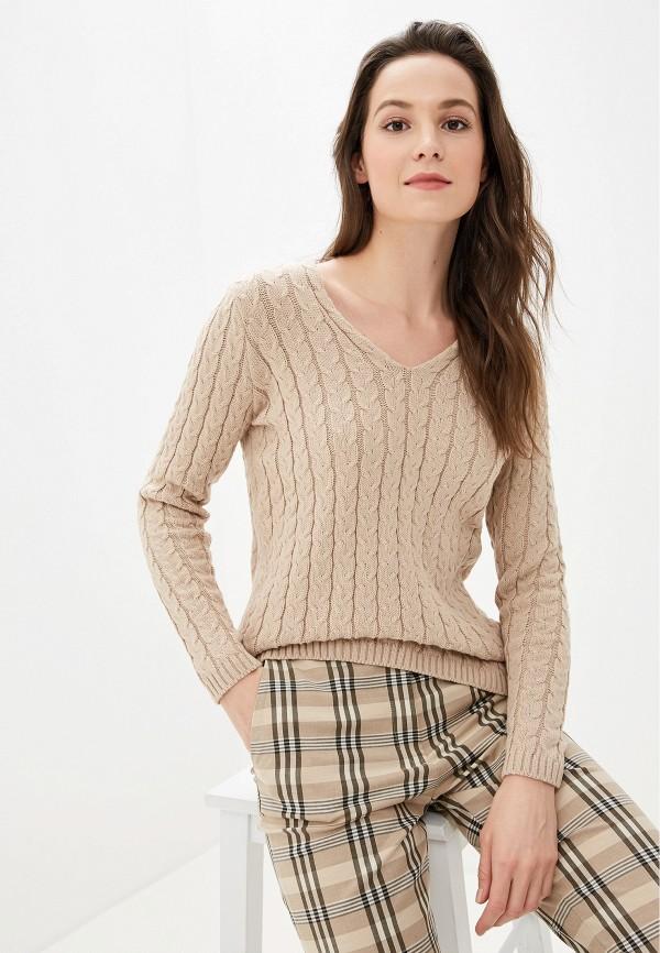 женский пуловер adl, бежевый