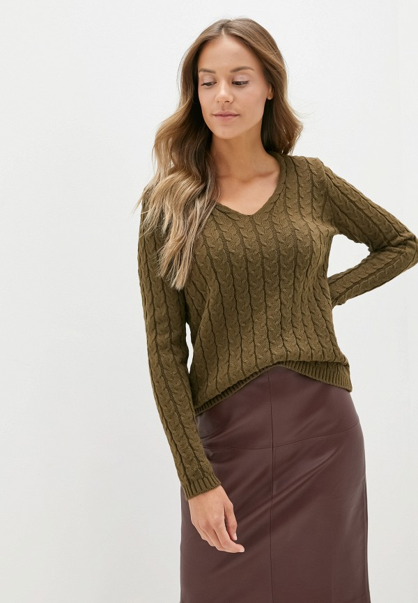 женский пуловер adl, хаки