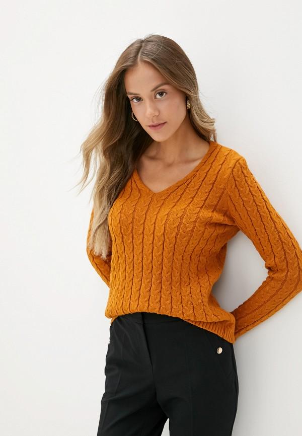 женский пуловер adl, коричневый