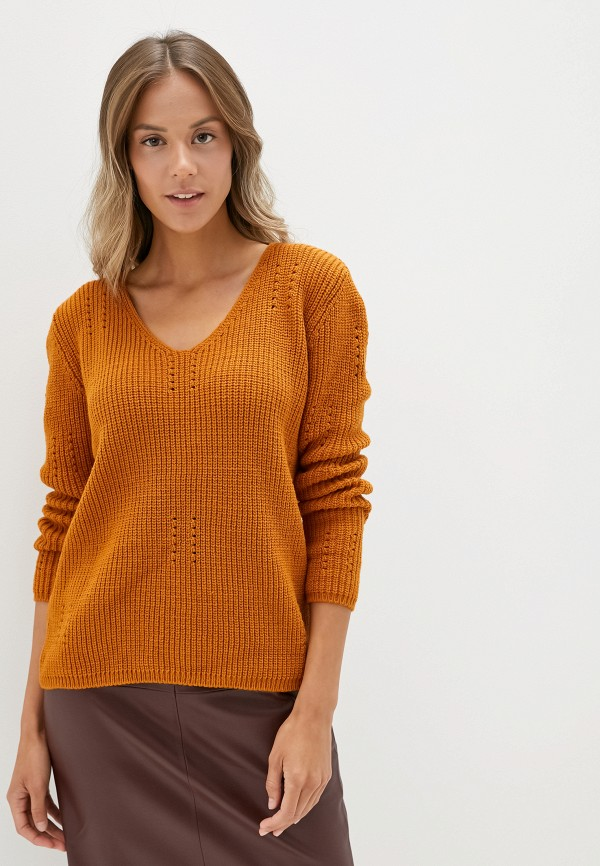 женский пуловер adl, оранжевый