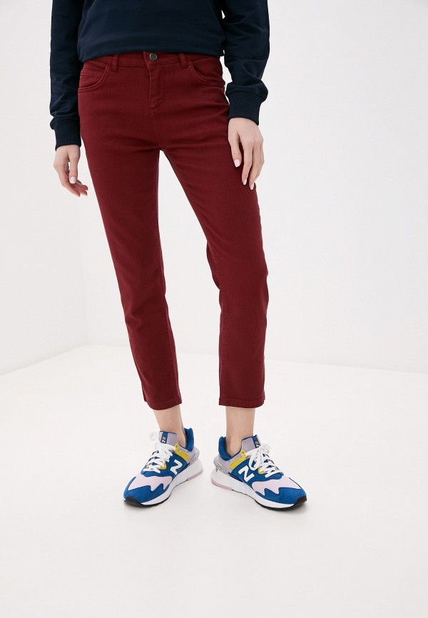 женские повседневные брюки adl, бордовые