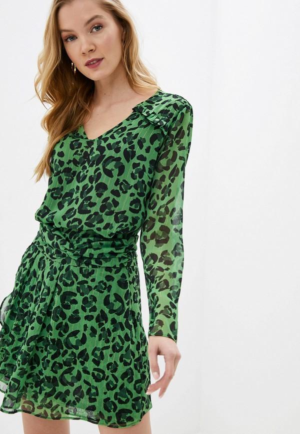 женская блузка с длинным рукавом adl, зеленая