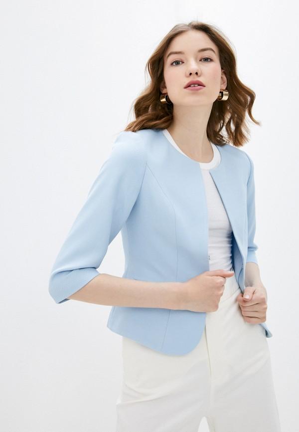 женский пиджак adl, голубой