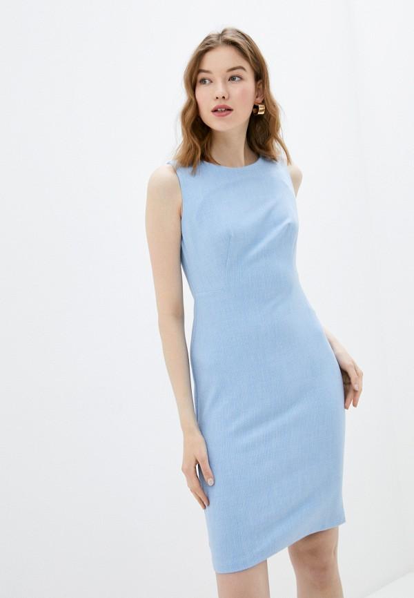 женское повседневные платье adl, голубое