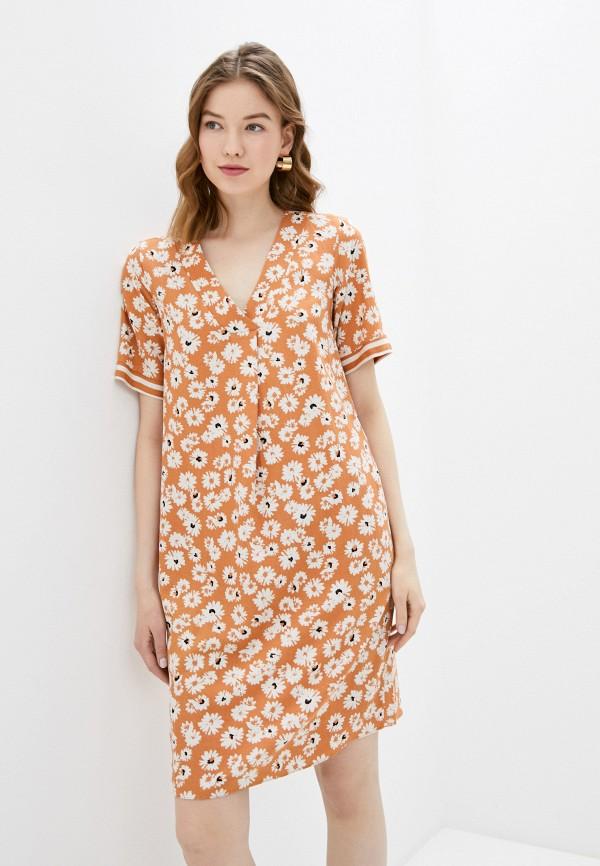 женское повседневные платье adl, оранжевое