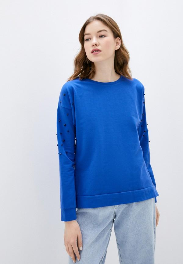 женский свитшот adl, голубой