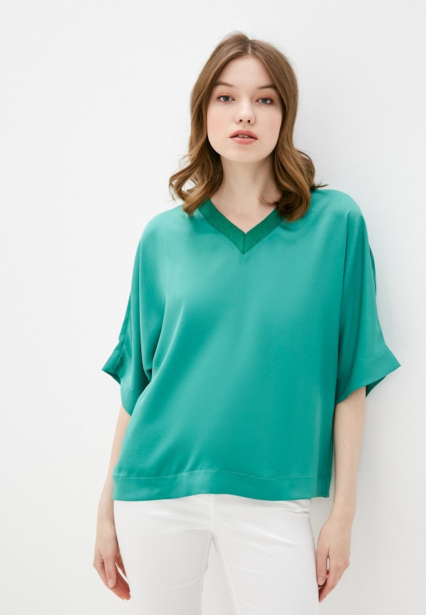 женская блузка adl, зеленая