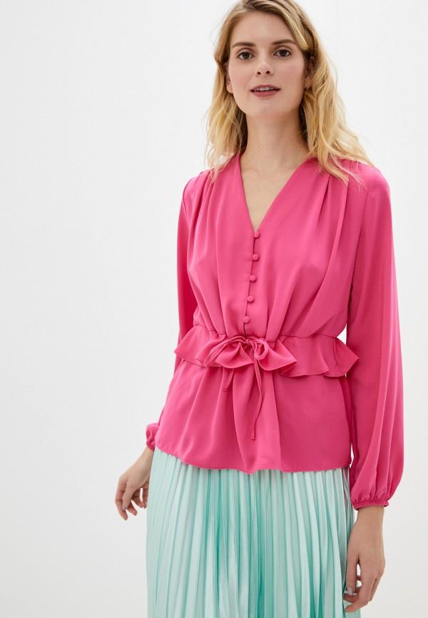 женская блузка adl, розовая