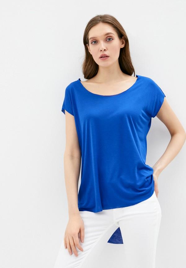 женская блузка adl, синяя