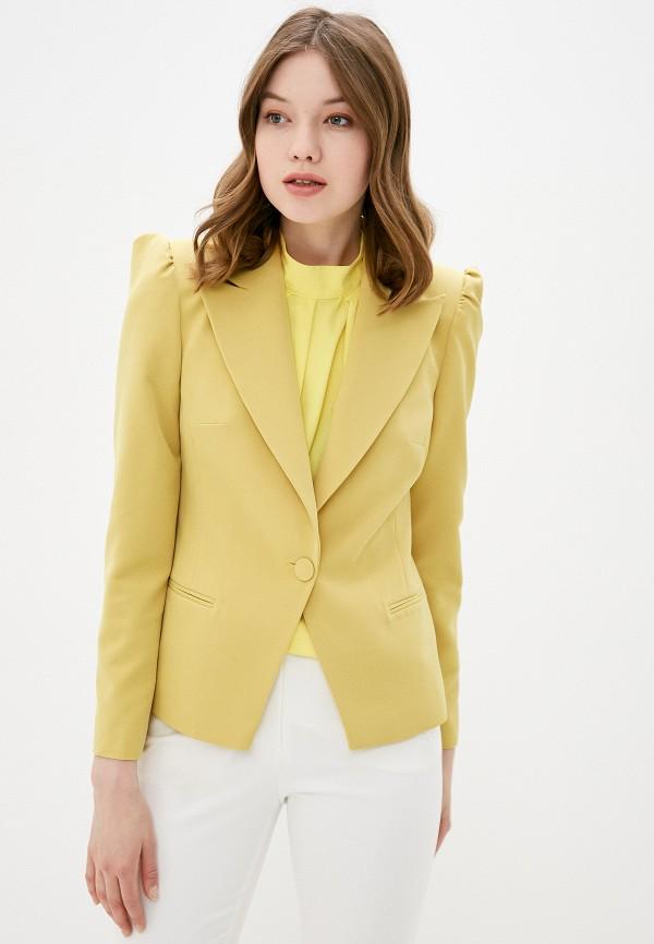 женский жакет adl, желтый