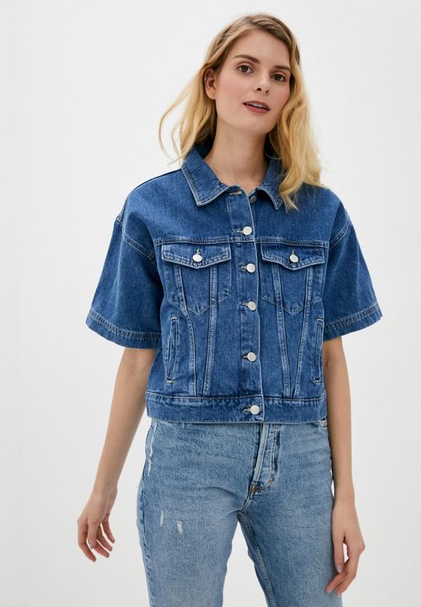 женская джинсовые куртка adl, синяя