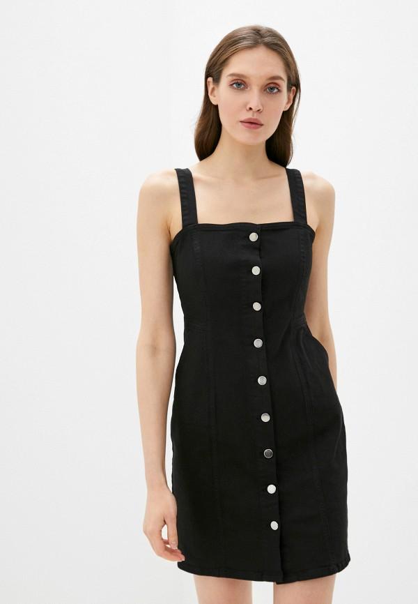 женское джинсовые платье adl, черное