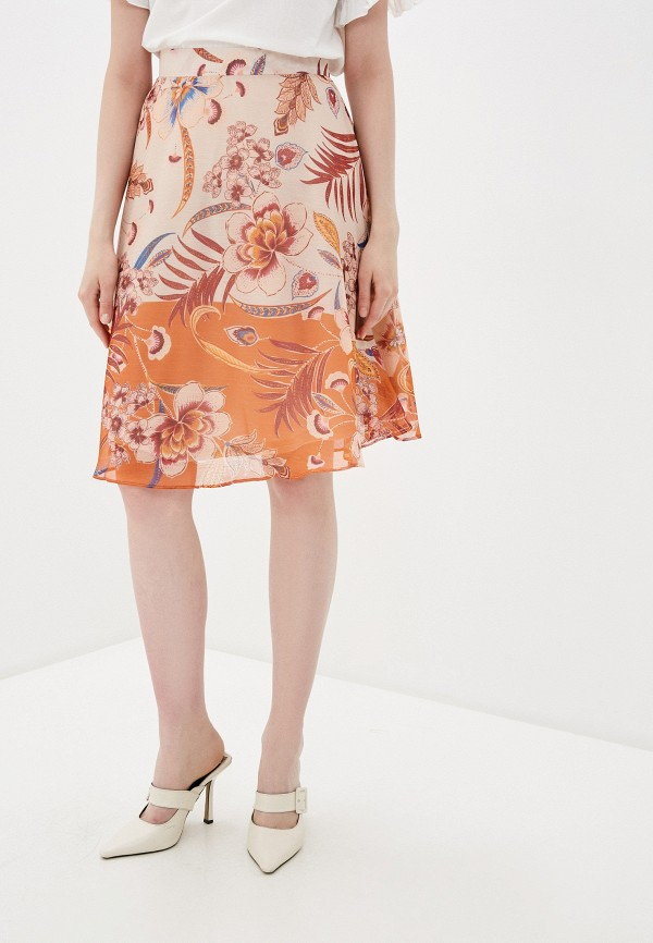 женская юбка adl, оранжевая
