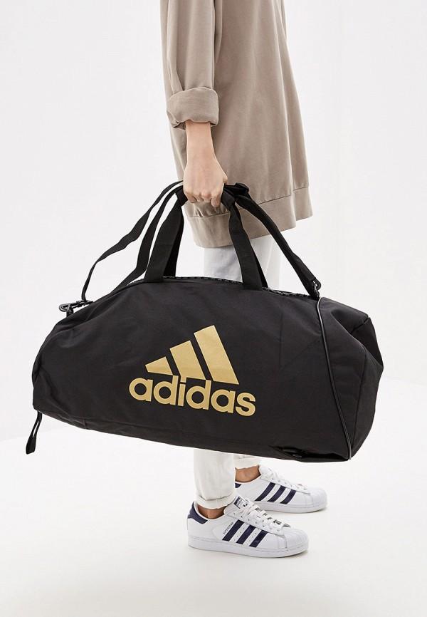 Фото 4 - Сумку спортивная adidas Combat черного цвета