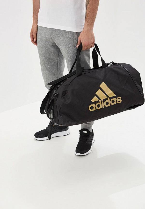 Фото 5 - Сумку спортивная adidas Combat черного цвета