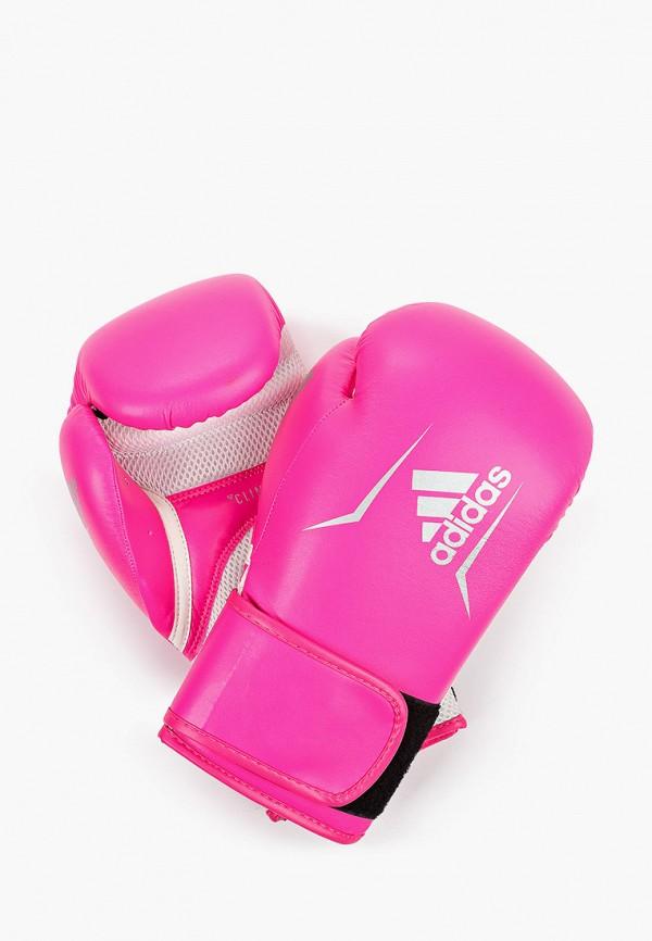 женские перчатки adidas, розовые