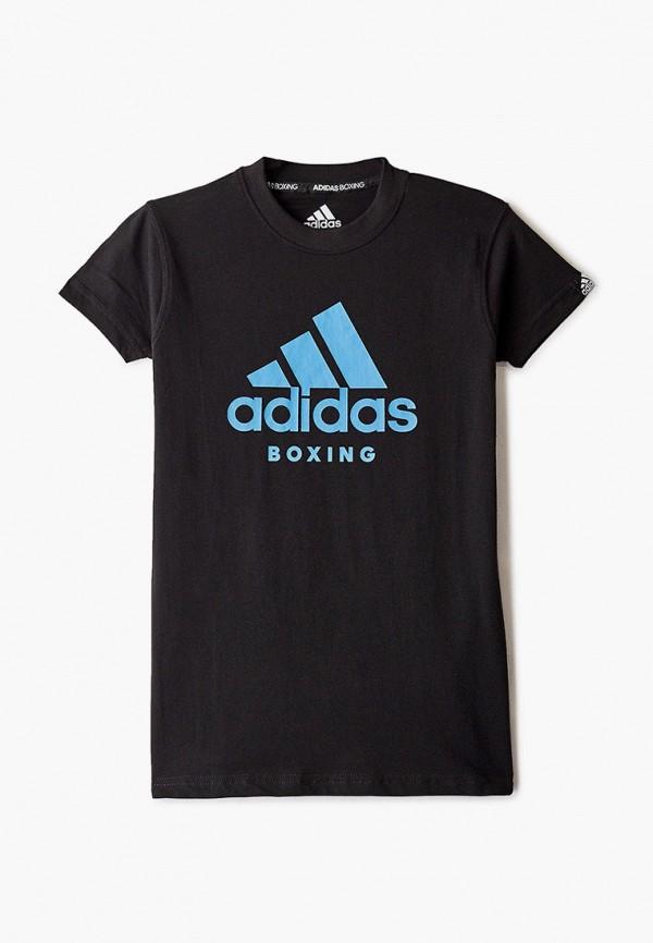 футболка adidas малыши, черная