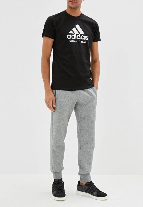 Фото 2 - мужскую футболку adidas Combat черного цвета