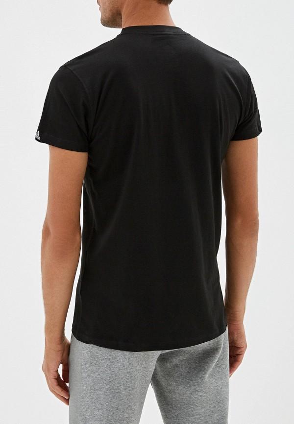 Фото 3 - мужскую футболку adidas Combat черного цвета