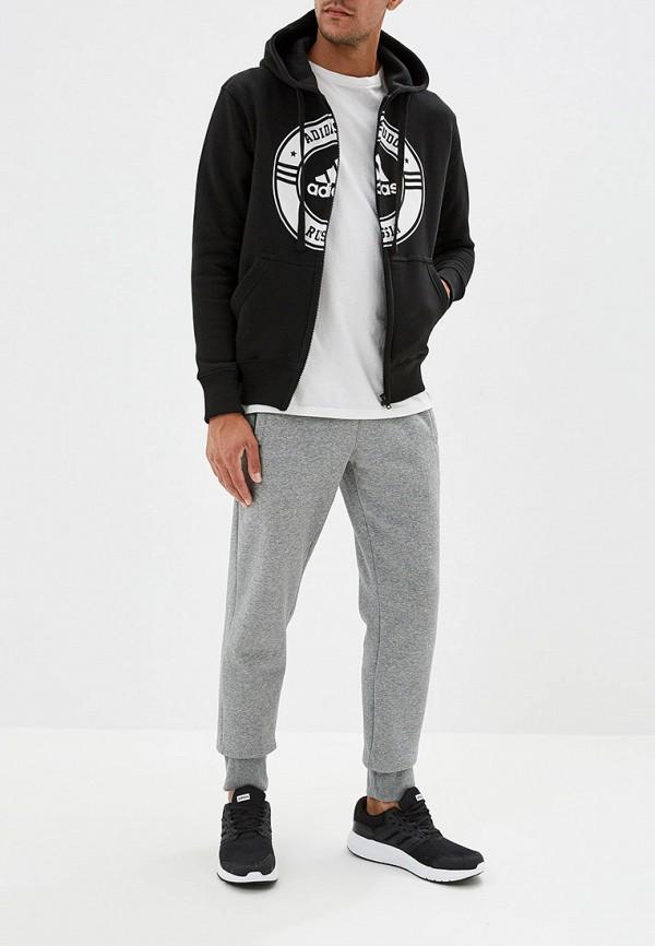 Фото 2 - мужскую толстовку adidas Combat черного цвета