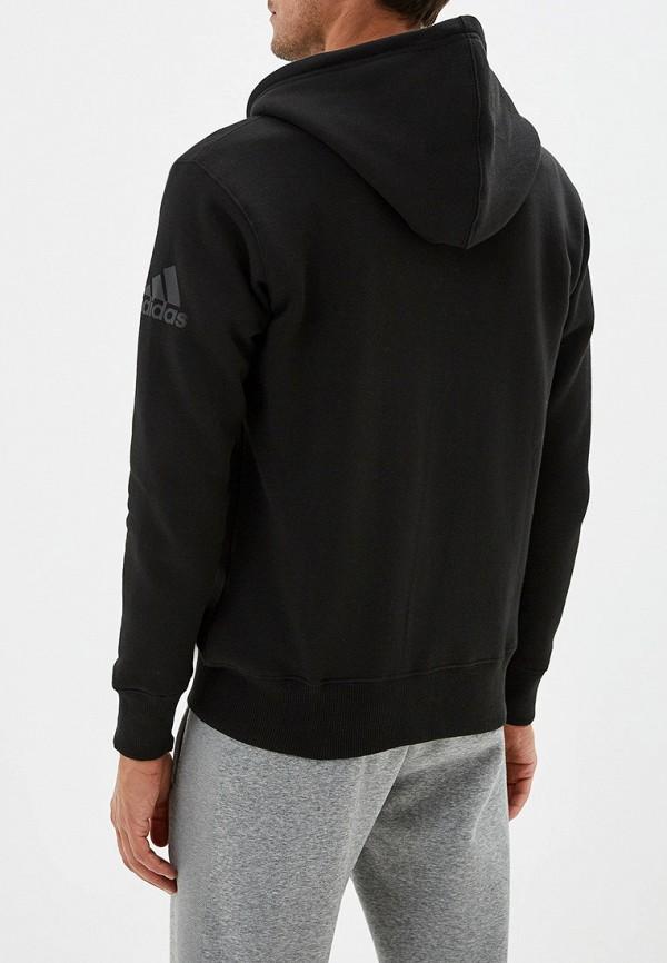 Фото 3 - мужскую толстовку adidas Combat черного цвета