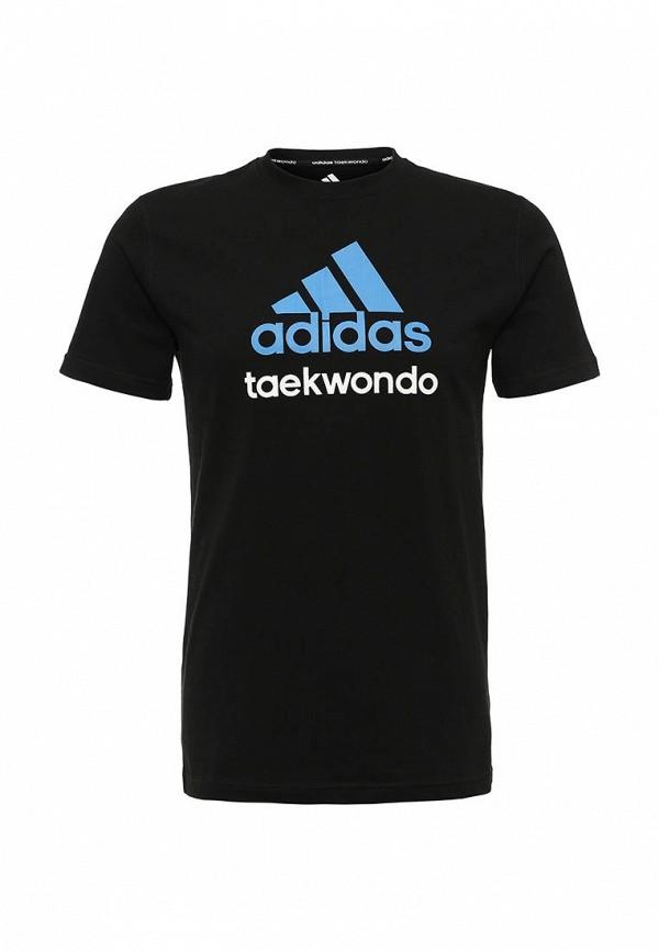 женская футболка с коротким рукавом adidas, черная