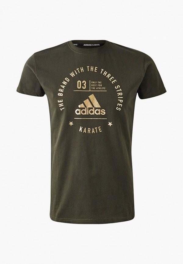 женская футболка с коротким рукавом adidas, хаки
