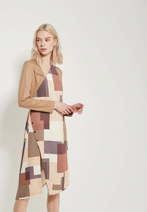 Купить Платье Adzhedo, Adzhedo AD016EWAJGL5, бежевый, Весна-лето 2018