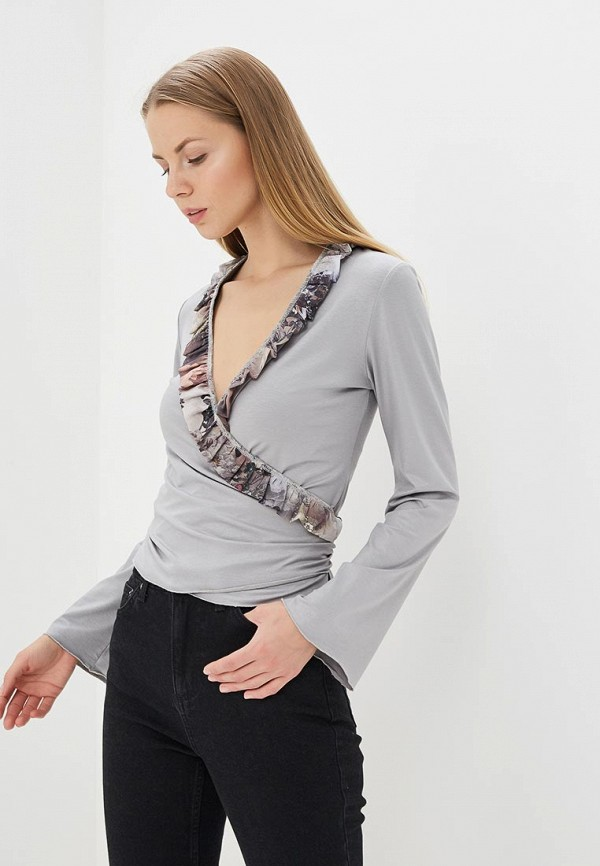 Купить Блуза Adzhedo, Adzhedo AD016EWBBYE1, серый, Весна-лето 2018